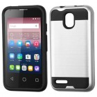Alcatel Pixi 4 (3.5) Silver/Black Brushed Hybrid Case