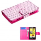 Nokia Lumia 520 Pink Diamonds Book-Style Wallet with Card Slot