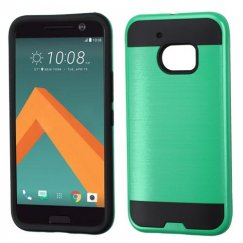 HTC 10 Green/Black Brushed Hybrid Case