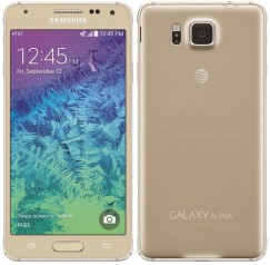 Samsung Galaxy Alpha 32GB SM-G850A Android Smartphone - Unlocked GSM - Gold