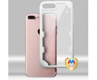 Transparent Clear/Solid White FreeStyle Challenger Hybrid Protector Cover