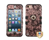 Black Four-Leaf Clover (2D Rose Gold)/Black TUFF Hybrid Phone Protector Cover