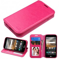 LG K3 LG-K3 Hot Pink Wallet with Tray