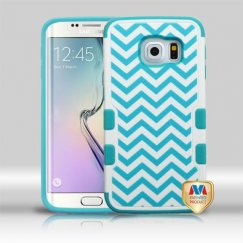 Samsung Galaxy S6 Edge Blue Wave/Tropical Teal Hybrid Case