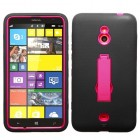 Nokia Lumia 1320 Hot Pink/Black Symbiosis Stand Case