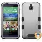 HTC Desire 510 Rubberized Gray/Black Hybrid Case