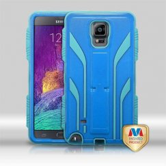 Samsung Galaxy Note 4 Natural Dark Blue/Tropical Teal Extreme Hybrid Case