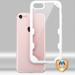Apple iPhone 7 Transparent Clear/Solid White FreeStyle Challenger Hybrid Protector Cover