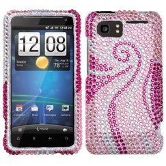 HTC Vivid Phoenix Tail Diamante Case