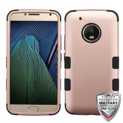 Motorola Moto G5 Plus Rose Gold/Black Hybrid Case Military Grade
