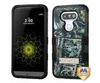 Cedar Tree-Hunting Camouflage Collection/Black TUFF Hybrid Phone Protector Cover (with Stand)