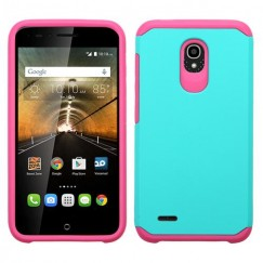 Alcatel One Touch Conquest Teal Green/Hot Pink Astronoot Case
