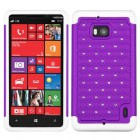 Nokia Lumia Icon Purple/Solid White Luxurious Lattice Dazzling TotalDefense Case