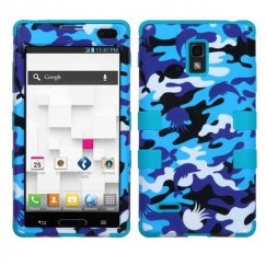 LG Optimus L9 Aquatic Camouflage/Tropical Teal Hybrid Case