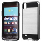 LG X Power / K6 Silver/Black Brushed Hybrid Case