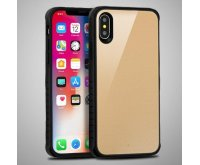 Apple iPhone X Gold Tempered Glass/Black Fusion Protector Cover