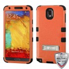 Samsung Galaxy Note 3 Natural Orange/Black Hybrid Case with Stand