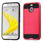 HTC Bolt Red/Black Brushed Hybrid Case