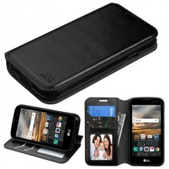LG K3 LG-K3 Black Wallet with Tray