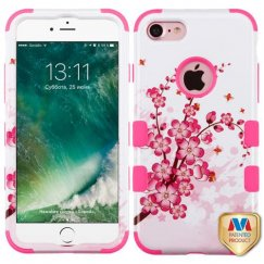 Apple iPhone 7 Spring Flowers/Electric Pink Hybrid Case