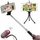 3-In-1 Selfie Package(Monopod Tripod Stand Black/Red Selfie Stick)