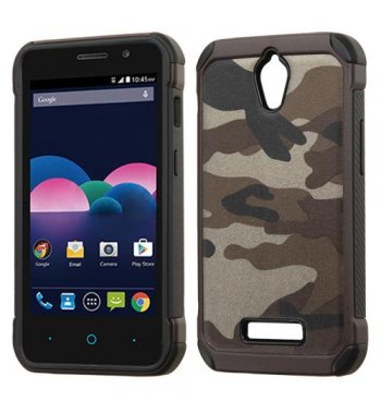 ZTE Obsidian Camouflage Gray Backing/Black Astronoot Phone Protector Cover