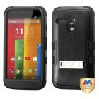 Motorola Moto G Natural Black/Black Hybrid Phone Protector Cover (with Stand)