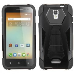 Alcatel One Touch Elevate Black Inverse Advanced Armor Stand Case