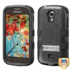 Samsung Galaxy Light Natural Black/Black Hybrid Case with Stand