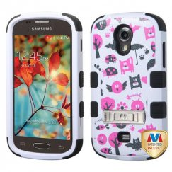 Samsung Galaxy Light Spooky Creatures/Black Hybrid Case with Stand
