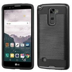 LG LG G Stylo 2 Plus Black/Black Brushed Hybrid Case