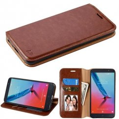 ZTE Blade Z Max / Sequoia Z982 Brown Wallet with Tray