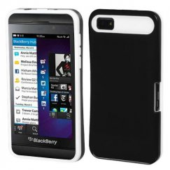 Blackberry Z10 Black/White Card Wallet Back Case