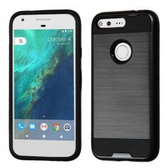 Google Pixel Black/Black Brushed Hybrid Case