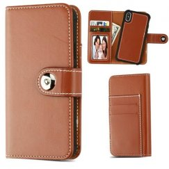 Apple iPhone X Brown Detachable Magnetic 2-in-1 Wallet