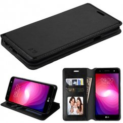 LG X Power 2 Black Wallet with Tray