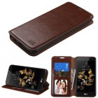LG K8 / Phoenix 2 Brown Wallet with Tray