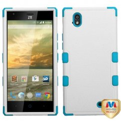 ZTE Warp Elite Natural Ivory White/Tropical Teal Hybrid Case