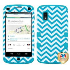 LG Nexus 4 Blue Wave/Tropical Teal Hybrid Case