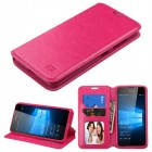 Nokia Lumia 650 Hot Pink Wallet with Tray