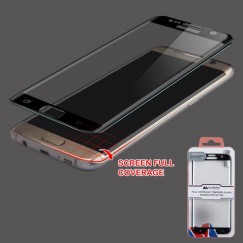 Samsung Galaxy S7 Edge Full Coverage Tempered Glass Screen Protector - Black