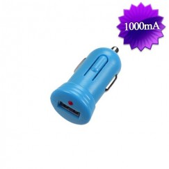 Blue Bullet-like USB Car Charger(1 Amp)