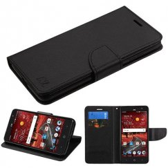 ZTE Grand X 4 Black Pattern/Black Liner wallet with Card Slot