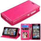 Nokia Lumia 435 Hot Pink Wallet with Tray