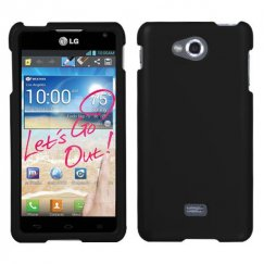 LG Spirit 4G Black Case - Rubberized