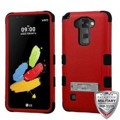 LG G Stylus 2 Natural Red/Black Hybrid Case with Stand