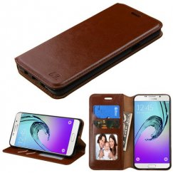 Samsung Galaxy A7 Brown Wallet with Tray