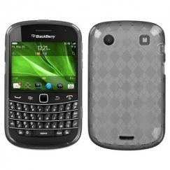 Blackberry Bold 9930 Smoke Argyle Candy Skin Cover