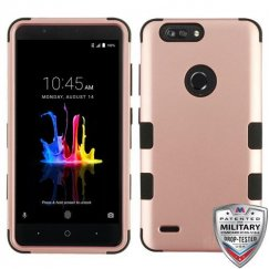 ZTE Blade Z Max / Sequoia Z982 Rose Gold/Black Hybrid Case Military Grade