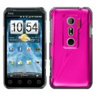 HTC EVO 3D Hot Pink Cosmo Back Protector Cover
